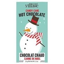 Gourmet Village Retro Snow Man Candy Cane Hot Chocolate 1.2 Oz