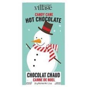 Gourmet Village Retro Snow Man Candy Cane Hot Chocolate 1.2 Oz