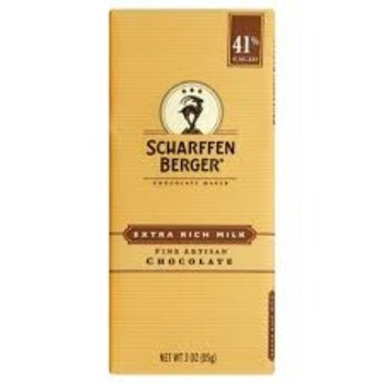 Scharffenberger Extra Rich Milk Chocolate bar - 3 Oz