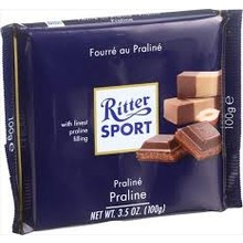 Ritter Milk Chocolate with Praline - 3.5 bar