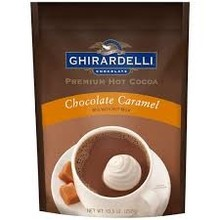 Ghirardelli Caramel Hot Chocolate Pouch -10.5 Oz dated Jan 2018