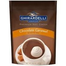 Ghirardelli Caramel Hot Chocolate Pouch -10.5 Oz dated Jan 2018