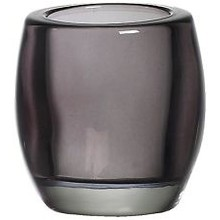 Bolsius Glass Tealight Holder Smokey Grey 3 inch x 2.8 inch