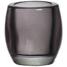Bolsius Glass Tealight Holder Smokey Grey 3 inch x 2.8 inch