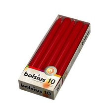 Bolsius Dinner Candles Red 10 Ct