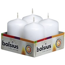 Bolsius 4 pack Votive Candle White 2.3 inch x 1.5 inch