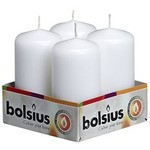 Bolsius 4 Pack Votive Candles White 4inch x 2 inch