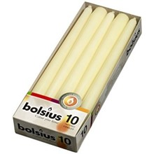 Bolsius Dinner Candle Ivory 10 ct