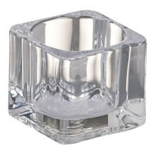 Bolsius Tealight Square Holder Clear 1.5 inch x 2.2 inch