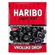 Haribo Happy - Vrolijke drop soft sweet 7 oz bag Sale $2.49