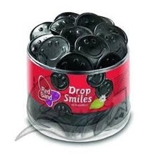 Red Band Licorice Smiles  100 per container