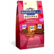 Ghirardelli Valentine Assortment Squares - 8.95 Oz