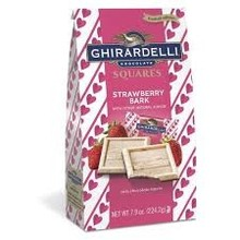 Ghirardelli Strawberry Bark Squares - 7.9 Oz