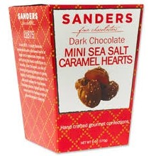 Sanders Mini Sea Salt Caramel Hearts - 6 Oz