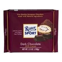 Ritter Dark Chocolate Bar - 3.5 Oz