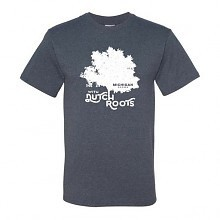 PGM Designs Michigan Grown Dutch Roots T shirt YOUTH LARGE Vintage Blue
