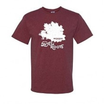PGM Designs Michigan Grown Dutch Roots T shirt MEDIUM Vintage Maroon