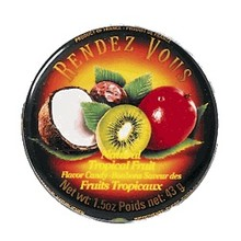 Rendez Vous Tropical Fruit Hard Candy Tin - 1.5 Oz