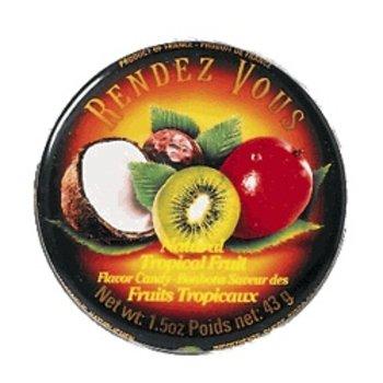 Rendez Vous Tropical Fruit Hard Candy Tin - 1.5 Oz