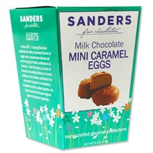 Sanders Mini Chocolate Caramel Eggs - 6 Oz