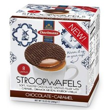 Daelmans Chocolate Caramel Syrupwafer in Box 10.23 oz