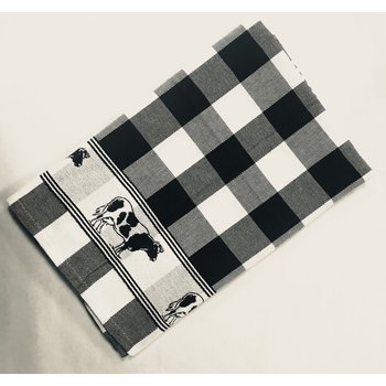 Twenstse Black Cow Tea Towel 25x23 inches