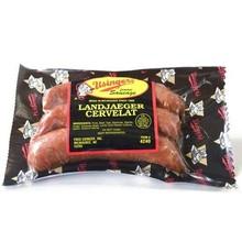 Landjaeger cervelat snack sausage 6 oz vacuum package