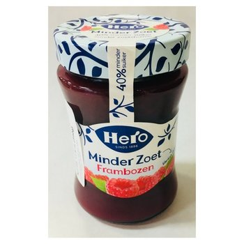 Hero Less Sugar Raspberry Jam - 10.4 oz dated July 2018