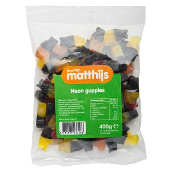 Matthijs Neow Guppies Fruit & Licorice - 14.1 Oz Bag