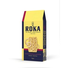 Roka Cheddar & Onion Cheese Crispies 2.4 Oz
