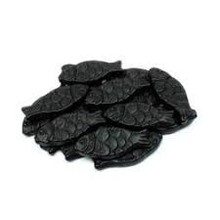 Haribo Licorice Fish - 8 Oz tub