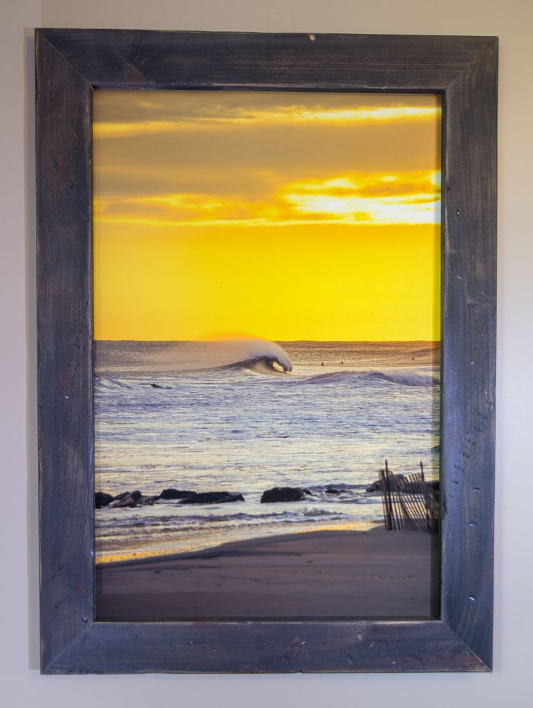 24 X 36 LIDO BEACH NEW YORK PHOTO IN RECLAIMED WOOD FRAME - Unsound Surf