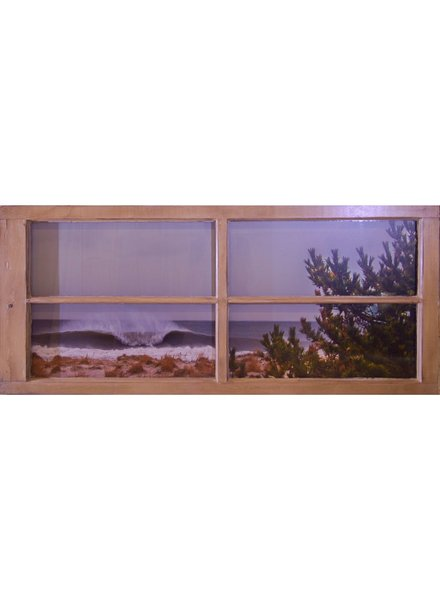 55 X 24 LIDO BEACH NY PHOTO FRAMED IN RECLAIMED WINDOW