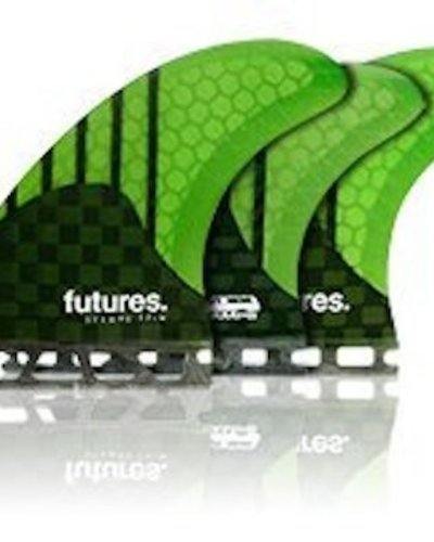FUTURES FUTURES STAMPS V2 MED HC 5FIN CARBON/NEON GREN