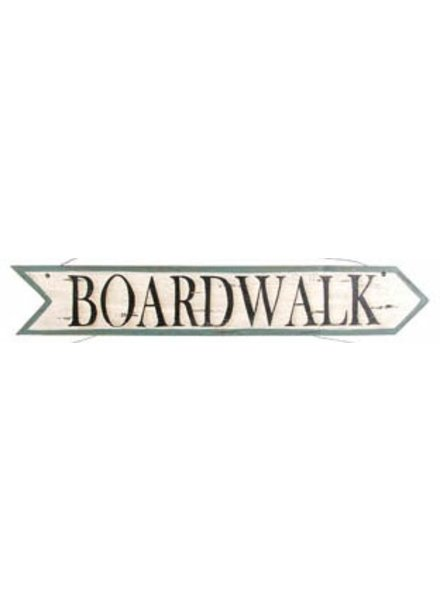 AGED BOARDWALK ARROW SIGN