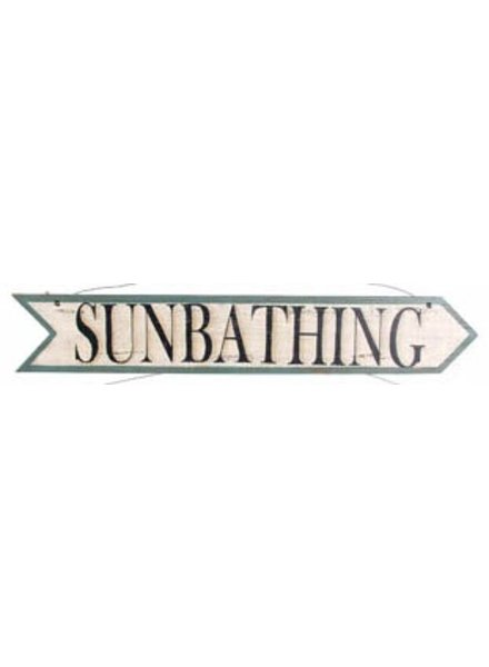 AGED SUNBATHING ARROW SIGN