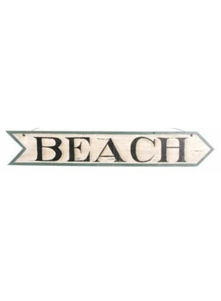 AGED BEACH ARROW SIGN