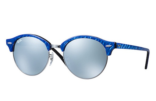 rayban RAY BAN CLUBROUND BLUE SILVER FLASH