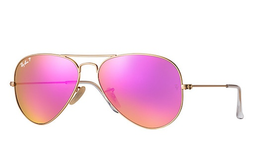 rayban RAY BAN AVIATOR LARGE METAL MATTE GOLD CYCLAMEN FLASH