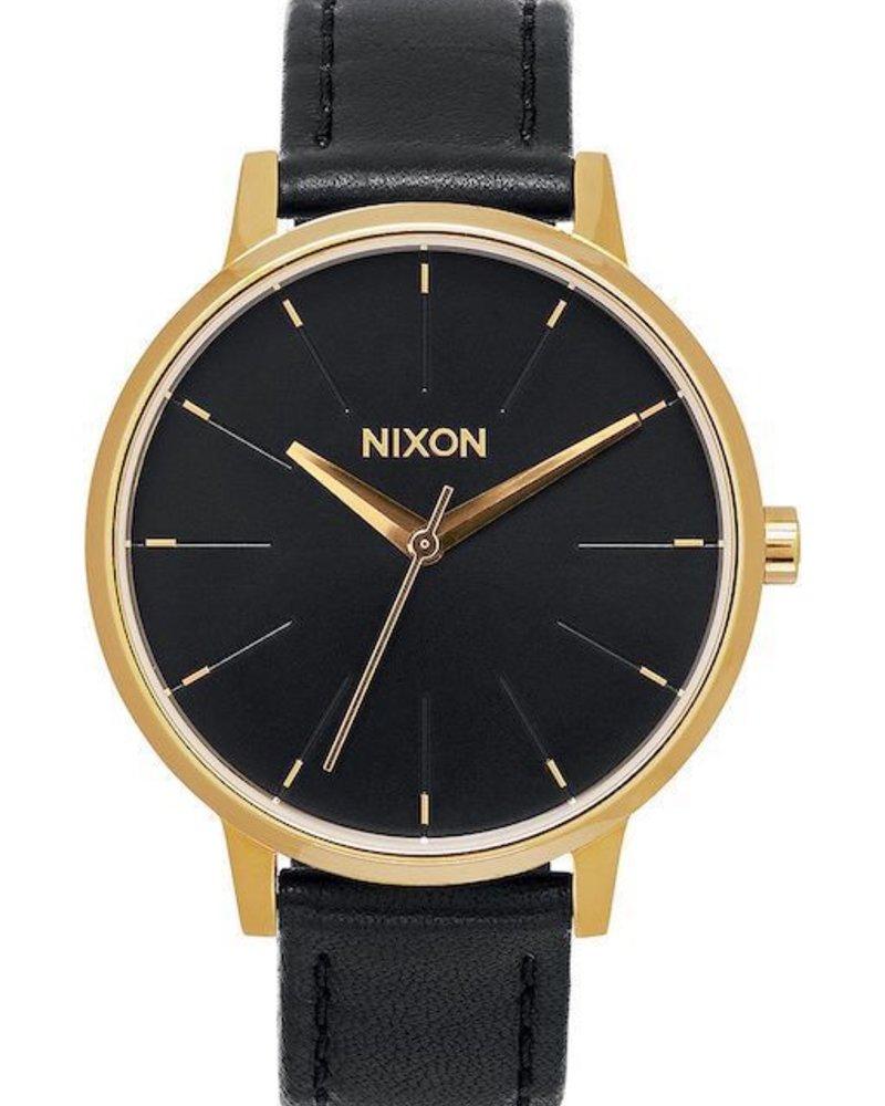 NIXON NIXON KENSINGTON LEATHER GOLD/BLK