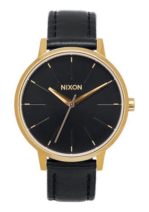 NIXON NIXON KENSINGTON LEATHER GOLD/BLK