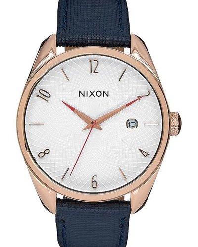 NIXON NIXON BULLET LEATHER ROSE GOLD/NVY
