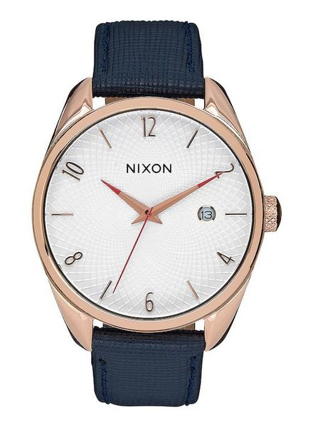 NIXON NIXON BULLET LEATHER ROSE GOLD/NVY