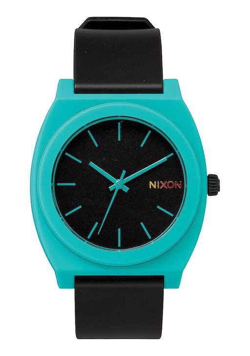 NIXON NIXON TIME TELLER BLACK /TEAL