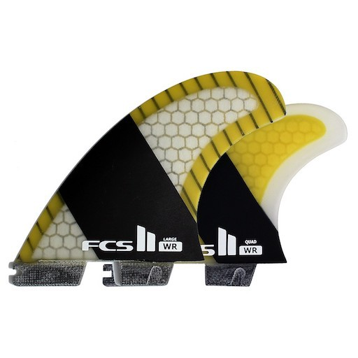 FCS FCS II WR STRETCH PC CARBON LARGE TRI QUAD FIN