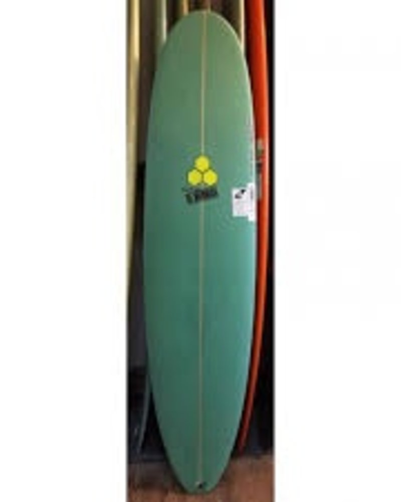 CHANNEL ISLANDS 7'6 CHANNEL ISLANDS WATERHOG 21 1/2 X 2 3/4 FCS TRI    -  GREEN TINT