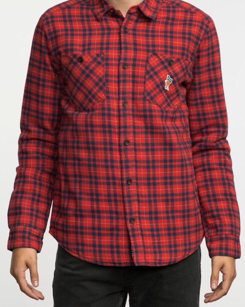 RVCA RVCA TOY MACHINE THICKNESS LS SHIRT JACKET