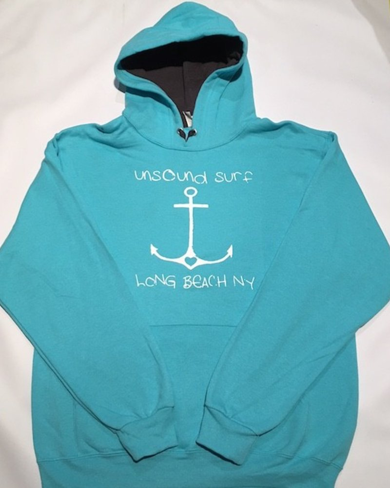 UNSOUND SURF UNSOUND SURF LOVE ANCHOR HOODED PULLOVER