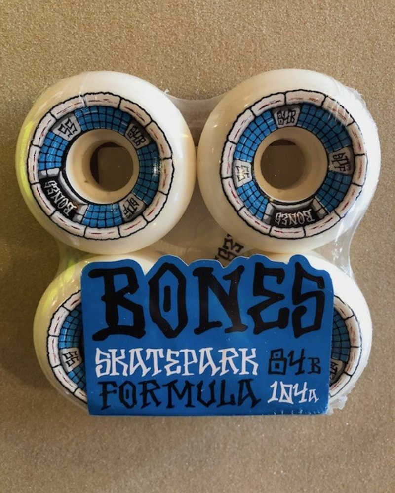 BONES SPF DEATHBOX 55MM 84B WHT/BLU SKATE WHEELS