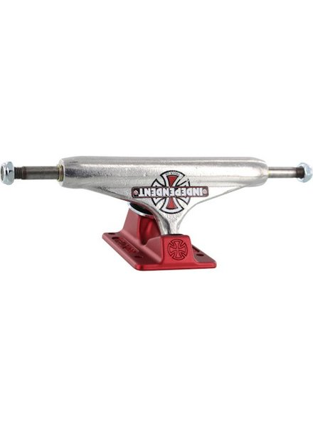 INDEPENDENT STD 149MM FORGED HOLLOW VNTAGE CROSS SIL/RED SK8 TRUCK